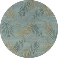 Hand-tufted Hesiod Light Blue Rug (8' x 8' Round)