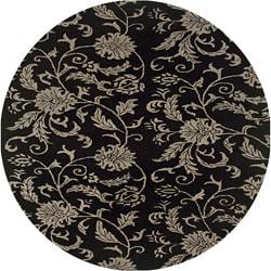 Hand-tufted Hesiod Black Rug (8' x 8' Round)