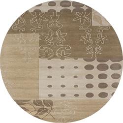 Hand-tufted Hesiod Beige Rug (8' x 8' Round)