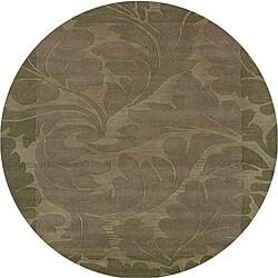 Hand-tufted Hesiod Green Rug (8' x 8' Round)
