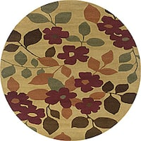 Hand-tufted Hesiod Light Gold Rug (8' x 8' Round)