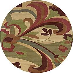 Hand-tufted Hesiod Light Gold Rug (8' x 8' Round)