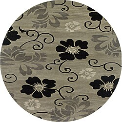 Hand-tufted Hesiod Pewter Rug (8' x 8' Round)