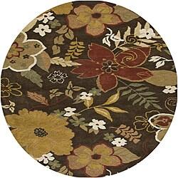 Hand-tufted Hesiod Brun Rug (8' x 8' Round)