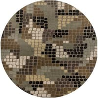 Hand-tufted Hesiod Brown Rug (8' x 8' Round)