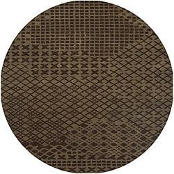 Hand-tufted Hesiod Brown Rug (8' x 8' Round)