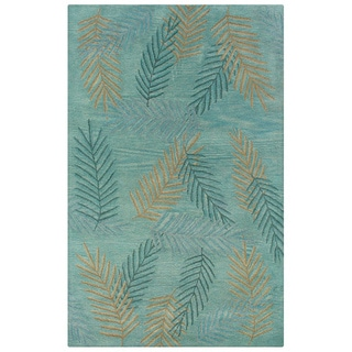 Hand-tufted Hesiod Light Blue Wool Rug (8' x 10')
