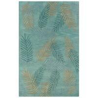 Hand-tufted Hesiod Light Blue Wool Rug - 8' x 10'