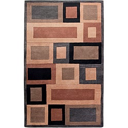 Hand-tufted Hesiod Grey Rug (8' x 10')