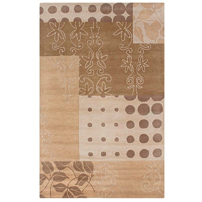 Hand-tufted Hesiod Beige Wool Rug - 8' x 10'