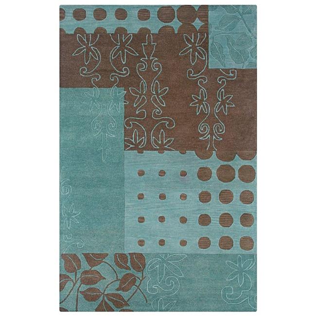 Hand-tufted Hesiod Blue Wool Rug (8' x 10')