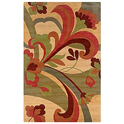 Hand-tufted Hesiod Light Gold Wool Rug - 8' x 10' - Thumbnail 0