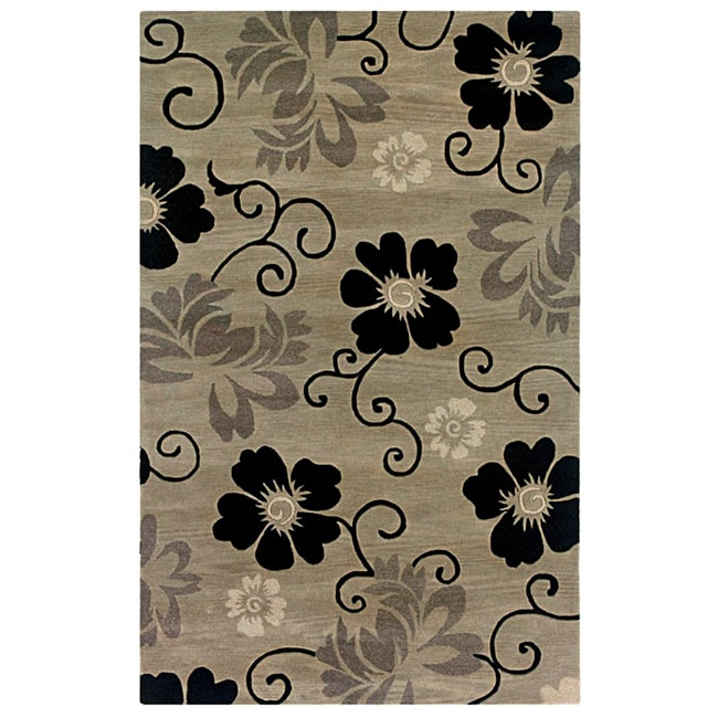 Hand-tufted Hesiod Pewter Wool Rug - 8' x 10'