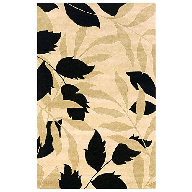 Hand-tufted Hesiod Ivory Rug (9' x 12')