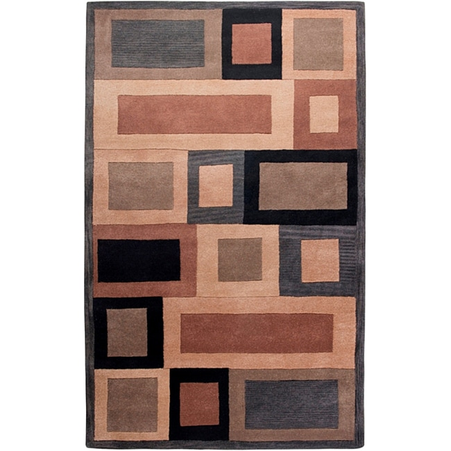 Hand-tufted Hesiod Grey Rug - 9' x 12'