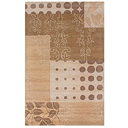 Hand-tufted Hesiod Beige Rug - 9' x 12' - Thumbnail 0