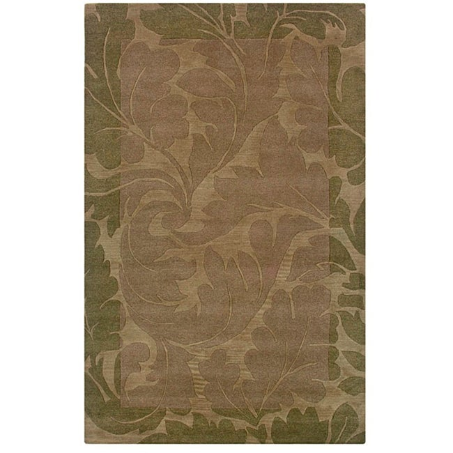 Hand-tufted Hesiod Green Rug (9' x 12')