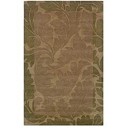 Hand-tufted Hesiod Green Rug (9' x 12')