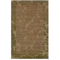 Hand-tufted Hesiod Green Rug - 9' x 12'