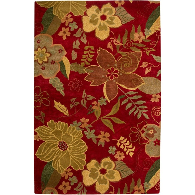 Hand-tufted Hesiod Red Rug - 9' x 12'