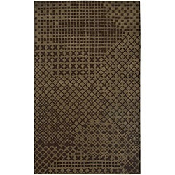 Hand-tufted Hesiod Brown Rug (9' x 12')
