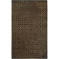 Hand-tufted Hesiod Brown Rug - 9' x 12'