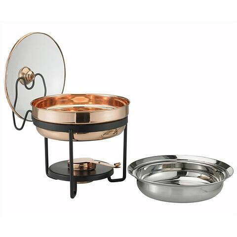 Old Dutch Decor Glass-lidded 2.5-quart Copper Chafing Dish