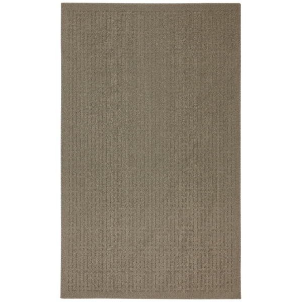 Mohawk Home Stacks Taupe Rug (5' x 7') - 5' x 7'