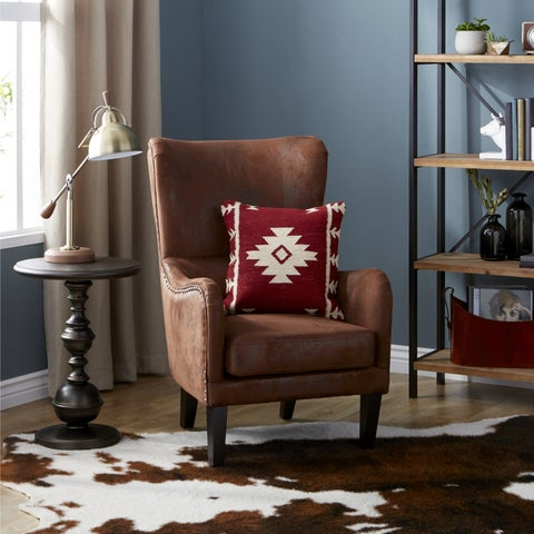 Lorenzo Fabric Studded Club Chair by Christopher Knight Home