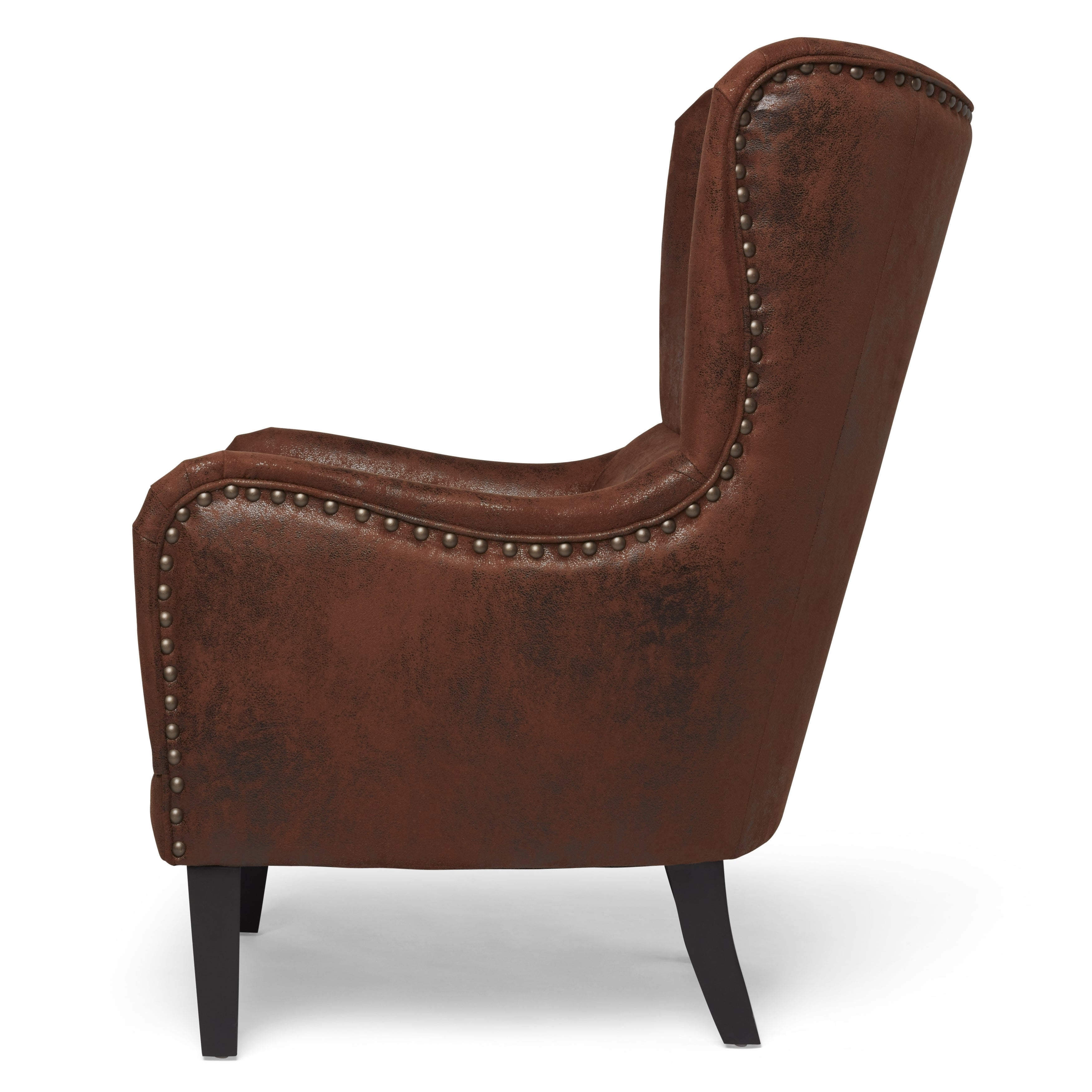 Wingback Arm Chair Fabric Accent Armchair Living Room