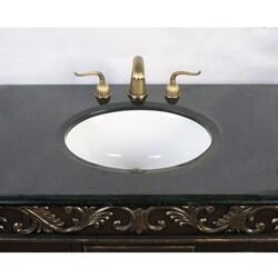 Distressed Espresso Black Granite Bathroom Vanity with Sink