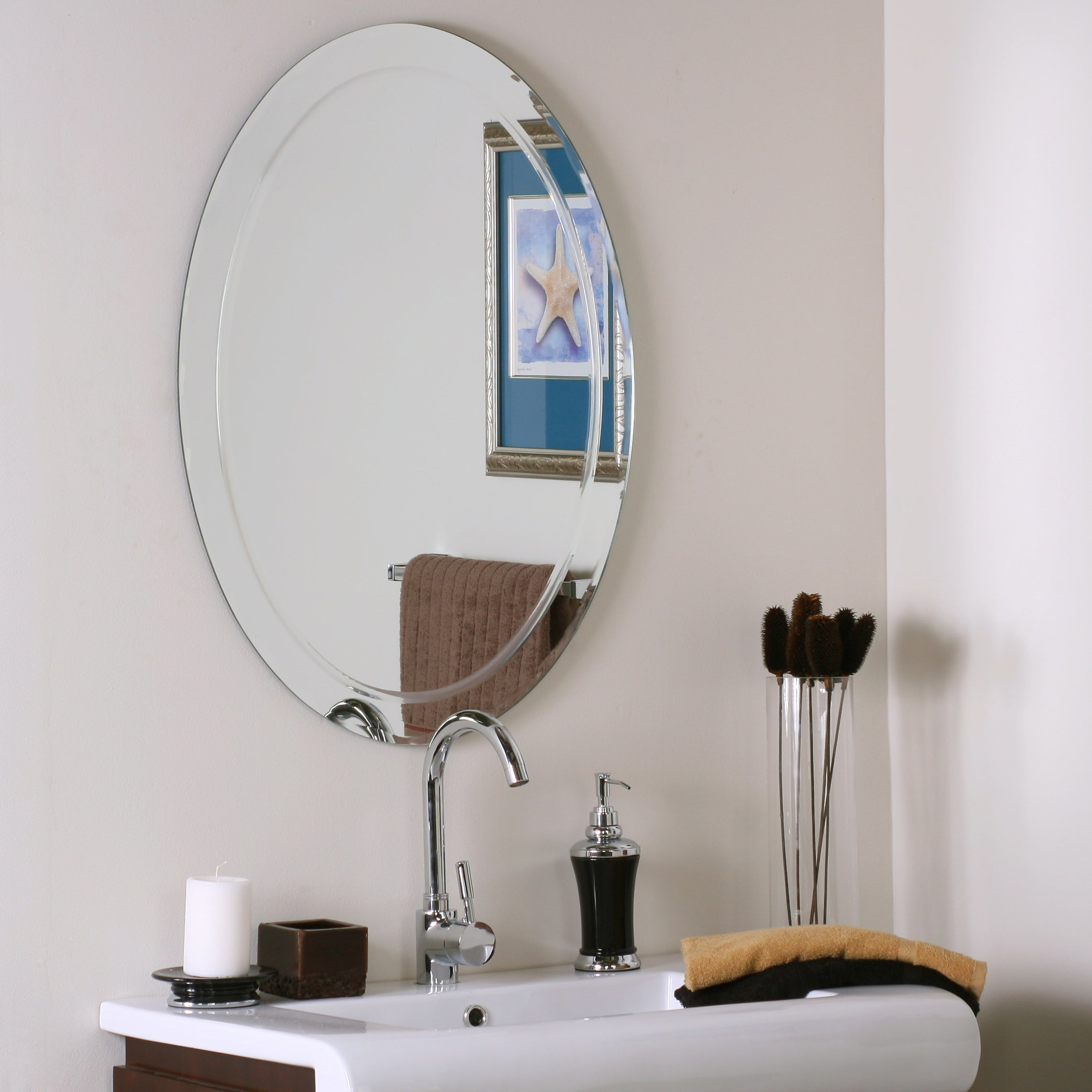 Marvelous Alden Modern Bathroom Mirror