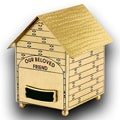 Star Legacy Solid Brass Dog House Pet Urn
