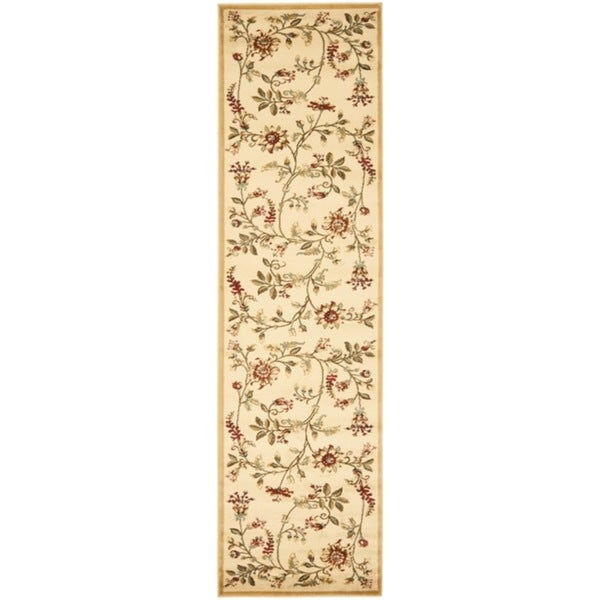 Safavieh Lyndhurst Traditional Floral Ivory/ Multi Rug (2'3 x 16')