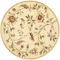 "Safavieh Lyndhurst Traditional Floral Ivory/ Multi Rug - 5'3"" x 5'3"" round"