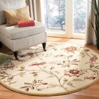 "Safavieh Lyndhurst Traditional Floral Ivory/ Multi Rug - 5'3"" x 5'3"" round"