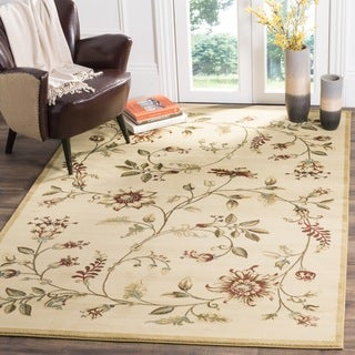 Safavieh Lyndhurst Traditional Floral Ivory/ Multi Rug (6'7 Square)