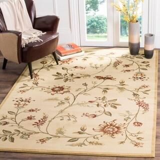Safavieh Lyndhurst Traditional Floral Ivory/ Multi Rug (6'7 x 9'6)