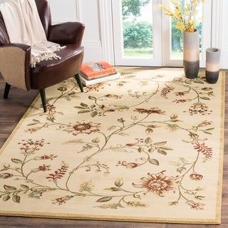 Safavieh Lyndhurst Traditional Floral Ivory/ Multi Rug (8' 9 x 12')