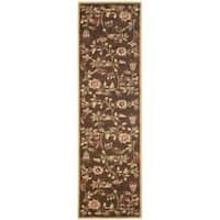 Safavieh Lyndhurst Traditional Floral Brown/ Multi Rug (2'3 x 12')