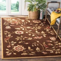 "Safavieh Lyndhurst Traditional Floral Brown/ Multi Rug - 2'3"" x 12'"
