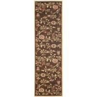 "Safavieh Lyndhurst Traditional Floral Brown/ Multi Rug - 2'3"" x 16'"