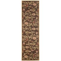 Safavieh Lyndhurst Traditional Floral Brown/ Multi Rug (2'3 x 8')