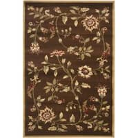 Safavieh Lyndhurst Traditional Floral Brown/ Multi Rug - 3'3 x 5'3