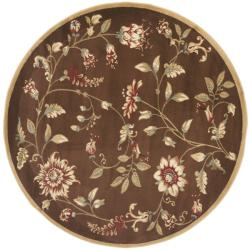 Safavieh Lyndhurst Traditional Floral Brown/ Multi Rug (5'3 Round)