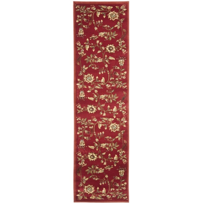Safavieh Lyndhurst Traditional Floral Red/ Multi Rug (2'3 x 16')