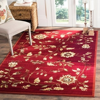 Safavieh Lyndhurst Traditional Floral Red/ Multi Rug (5'3 x 7'6)