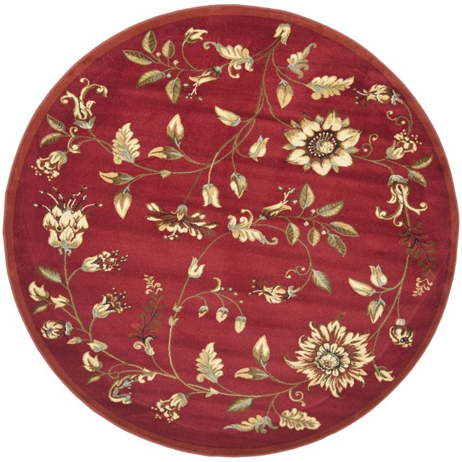 Safavieh Lyndhurst Traditional Floral Red/ Multi Rug (5'3 Round)