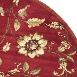 Safavieh Lyndhurst Traditional Floral Red/ Multi Rug (5'3 Round) - Thumbnail 1