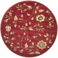 Safavieh Lyndhurst Traditional Floral Red/ Multi Rug (5'3 Round) - 5'3 round